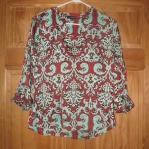 Womens The Limited Patterned 3/4 Sleeve Blouse